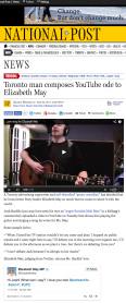 Toronto man composes YouTube ode to Elizabeth May   National Post (1)